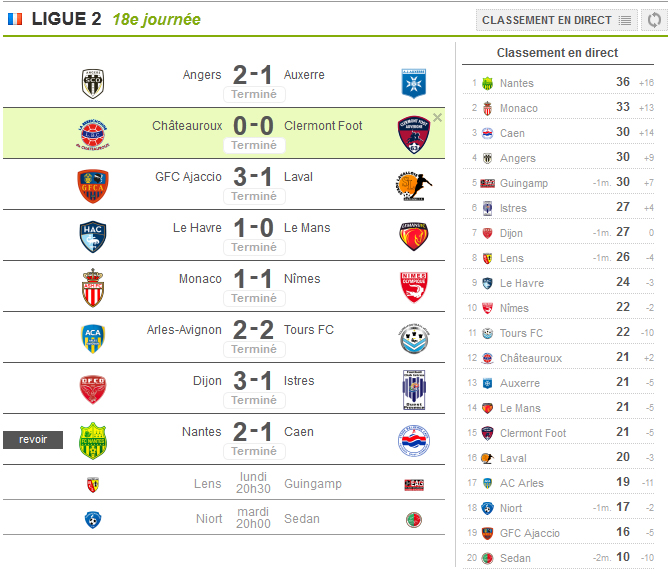 french league fixtures