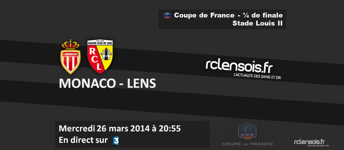 Cdf monaco lens 20h55 sur france 3 tv - Coupe de france resultat en direct ...