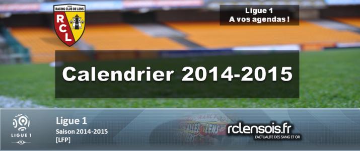 Le calendrier 2014-2015 de la Ligue 1